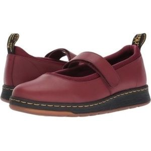 Dr. Martens Cherry Red Vegan Leather Shoes Size 9